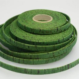 Leather - 10mm Cork Leather - Flat - Grass Green (Inch)