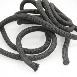 Cord - 10mm Round Nylon Cord - Black (2 feet)