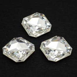 Swarovski - Rhinestones - 23mm Faceted Square (4675) - Crystal