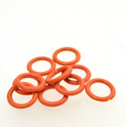 Findings - Round Rubber Rings - Rust (10)