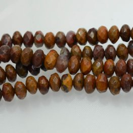 Stone Beads - 8mm Faceted Rondelles - Agua Nueva Agate (strand)