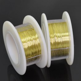 ParaWire - 28ga Round Wire - Champagne Gold (Spool)