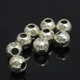 Metal Beads - Soccer to Me - Antiqued Silver
