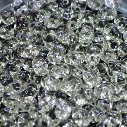 Czech Seedbeads - 2-Hole Superduos - Silver Lined Crystal