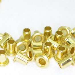 Leather Riveting Supplies - 4mm Eyelet - Bright Brass (Pack of 10)