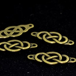 Leather Riveting Supplies - Infinity Knot Link / Centerpiece - Brass Oxide