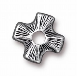 Riveting Supplies - Four Point Cross - Rivetable - Antiqued Pewter