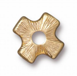 Riveting Supplies - Four Point Cross - Rivetable - Bright Gold