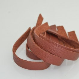 Leather - .5x10in Leather Strip - Rust
