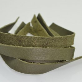 Leather - .5x10in Leather Strip - Olive