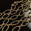 Chain - Twisted and Linked - Antiqued Brass (inch)