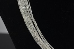 Finished Chain - 16in Cut Curb Chain - Bright Sterling