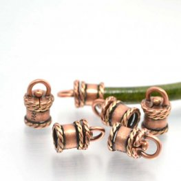 5mm Round Leather Beads/Findings