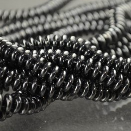 Glass Beads - Czechmates - 6mm 2 Hole Lentils - Hematite (Strand)