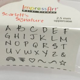 ImpressArt Stamps - 2.5mm Stamp/Punch Collection - Scarletts Signature - UPPERCASE Letters / Symbols (Set)