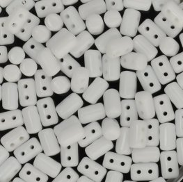 Czech Shaped Beads - Rullas - Chalk White
