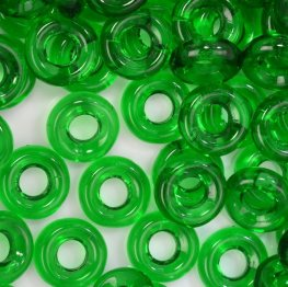 Glass Rings - 10mm Cheerios - Chrysolite (25)