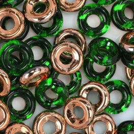 Glass Rings - 10mm Cheerios - Chrysolite Capri Gold (25)