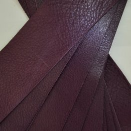 Leather - 2x10in Leather Strip - Wine