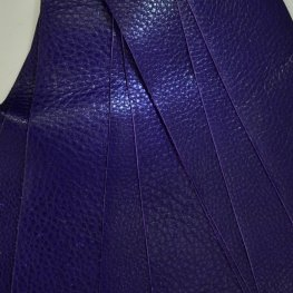 Leather - 2x10in Leather Strip - Dark Violet