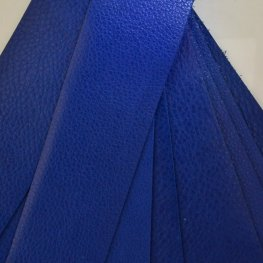 Leather - 2x10in Leather Strip - Royal Blue