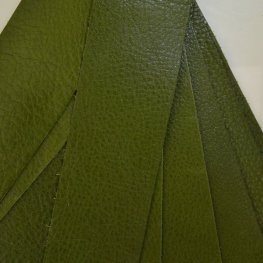 Leather - 2x10in Leather Strip - Dark Olive