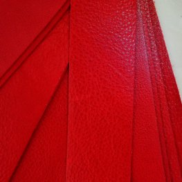 Leather - 2x10in Leather Strip - Cardinal Red