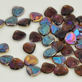 Glass Beads - 8x7mm Rose Petal - Tanzanite Celsian (25)