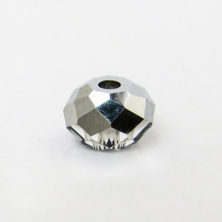 Swarovski Bead - 4mm Faceted Donut (5040) - Crystal Light Chrome