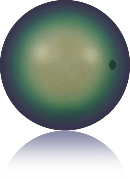 Swarovski Pearl - 10mm Round Pearl (5810) - Crystal Scarabaeus Green Pearl (10)