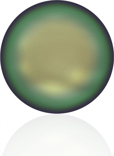 Swarovski Pearl - 12mm Coin Pearl (5860) - Crystal Scarabaeus Green Pearl (5)