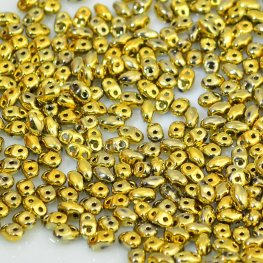 Czech Seedbeads - 2-Hole MiniDuos - Crystal Full Amber