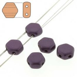 Czech Shaped Beads - 2-Hole Honeycombs - Pastel Bordeaux (Strand of 30)