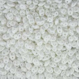 Czech Seedbeads - 2-Hole MiniDuos - Pastel Snow White