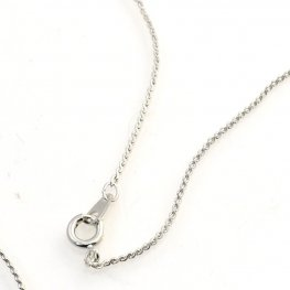 Necklace - Chain with Clasp - Cable Chain - Center Opening - Silvertone