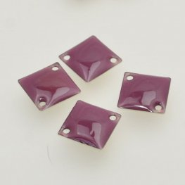 Findings - Link / Connector - Enameled Rhombus - Plum (12)