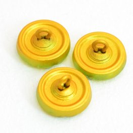 Czech Glass Button - 14mm Rotating Flower - Citrus