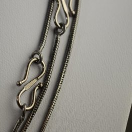 Chain Necklace - 16in Snake Chain - Gunmetal
