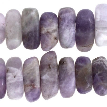 Stone Beads - 5x15mm Flat Chip - Matte Dog Tooth Amethyst (strand)