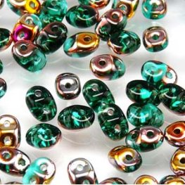 Czech Seedbeads - 2-Hole MiniDuos - Emerald Sliperit