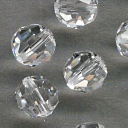 Swarovski Bead - 6mm Faceted Round (5000) - Crystal (10)