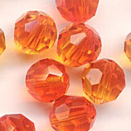 Swarovski Bead - 6mm Faceted Round (5000) - Fireopal (10)