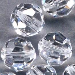 Swarovski Bead - 8mm Faceted Round (5000) - Crystal (6)