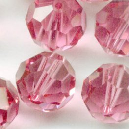 Swarovski Bead - 8mm Faceted Round (5000) - Rose (6)