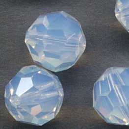 Swarovski Bead - 8mm Faceted Round (5000) - White Opal (6)