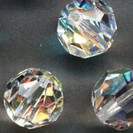 Swarovski Bead - 8mm Faceted Round (5000) - Crystal AB (6)