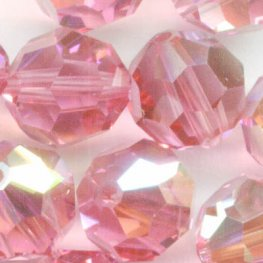 Swarovski Bead - 8mm Faceted Round (5000) - Rose AB (6)