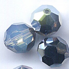 Swarovski Bead - 8mm Faceted Round (5000) - White Opal Star Shine (6)