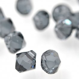 Swarovski Bead - 6mm Top-Drilled Bicone (6328) - Graphite (12)