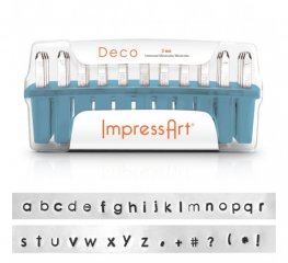 ImpressArt Stamps - 3mm Stamp/Punch Collection - Deco - lowercase Letters / Symbols (Set)